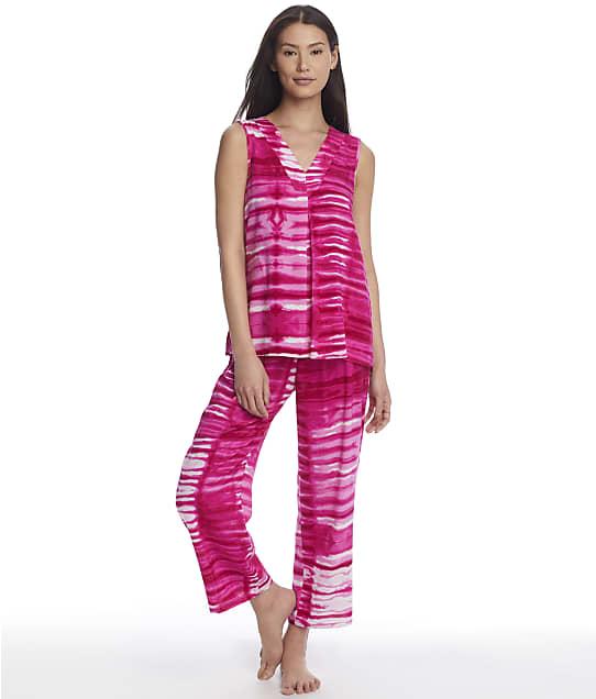 N Natori Shibori Woven Pajama Set in Wild Fuchsia MC6037
