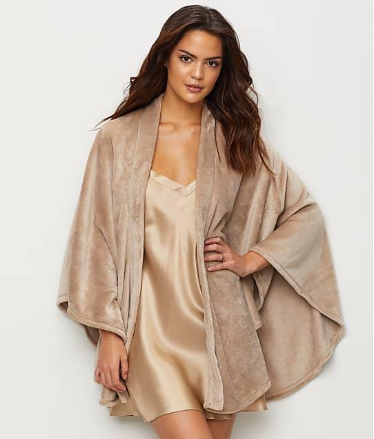 N Natori: Faux Cashmere Fleece Wrap