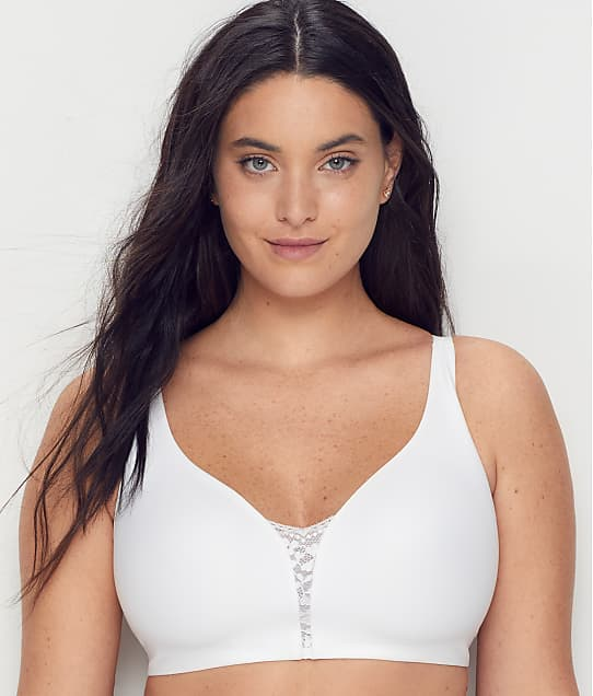 Olga Easy Does it Wire-Free 2 Ply Bra in White(Front Views) GQ8861A