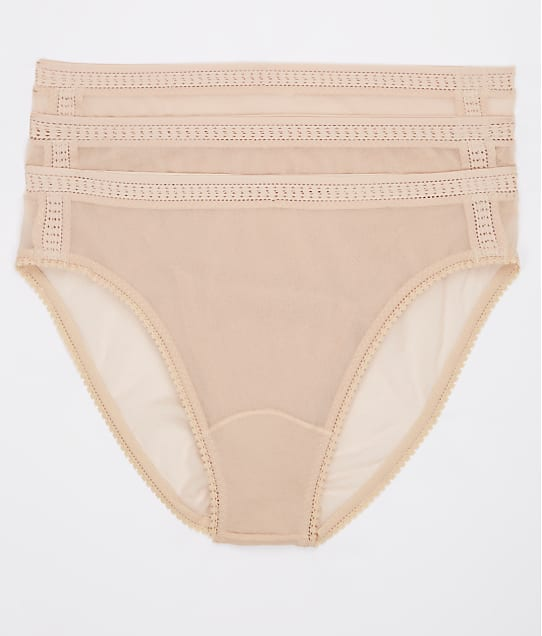 OnGossamer: Gossamer Mesh Hi-Cut Brief 3-Pack