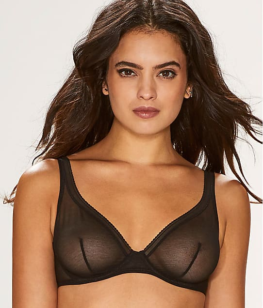 OnGossamer: Cotton Mesh Unlined Bra