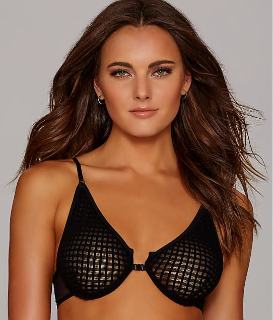 Only Hearts: Windowpane Front-Close Demi Bra