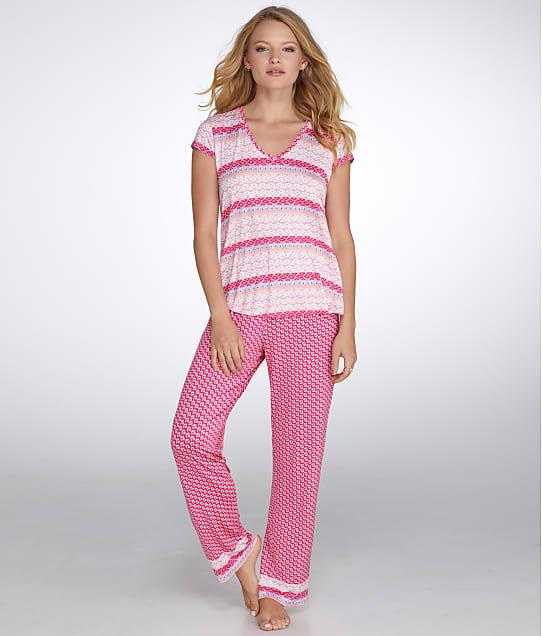 Oscar de la Renta: Luze Printed Knit Jersey Pajama Set