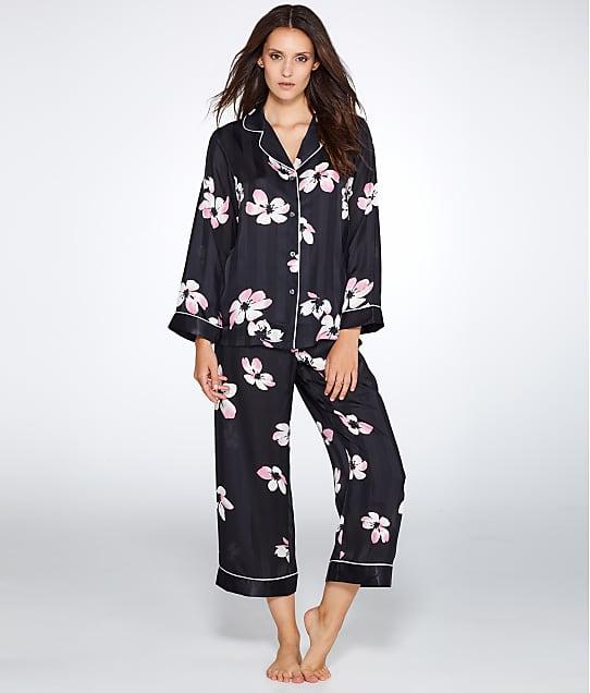 Oscar de la Renta: Floral Print Woven Pajama Set