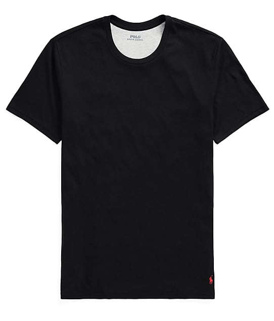 Polo Ralph Lauren Supreme Comfort Crew Neck T-Shirt in Black(Full Sets) P051RL