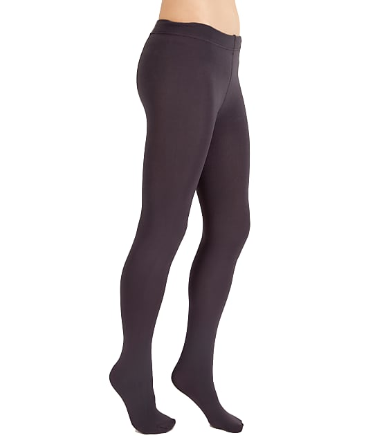 Plush Fleece Lined Tights in Charcoal P101S