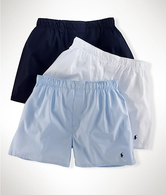 Polo Ralph Lauren: Classic Woven Boxer 3-Pack