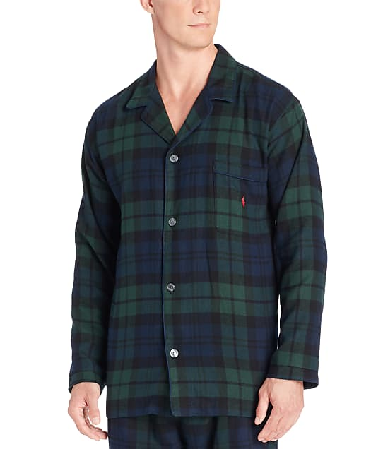 Polo Ralph Lauren Classic Flannel Pajama Top in Forest Plaid P656