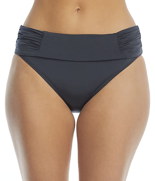 Panache Marina Fold-Over Bikini Bottom in Graphite(Front Views) SW0837