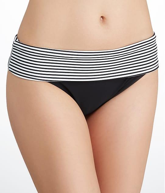 Panache: Anya Stripe Fold-Over Bikini Bottom