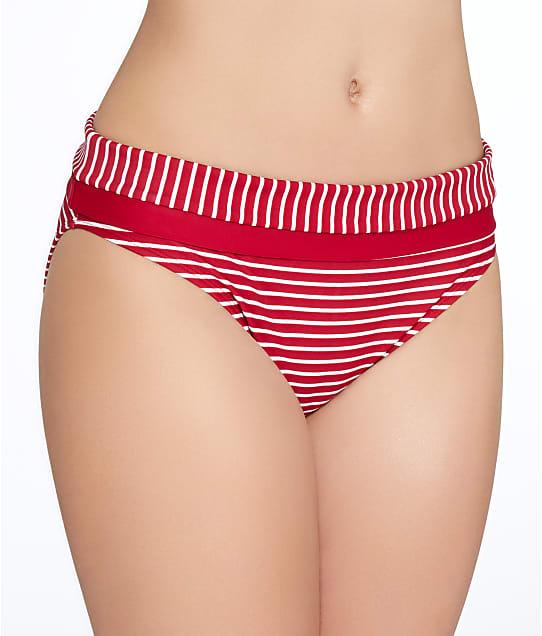 Panache: Britt Stripe Fold-Over Bikini Bottom