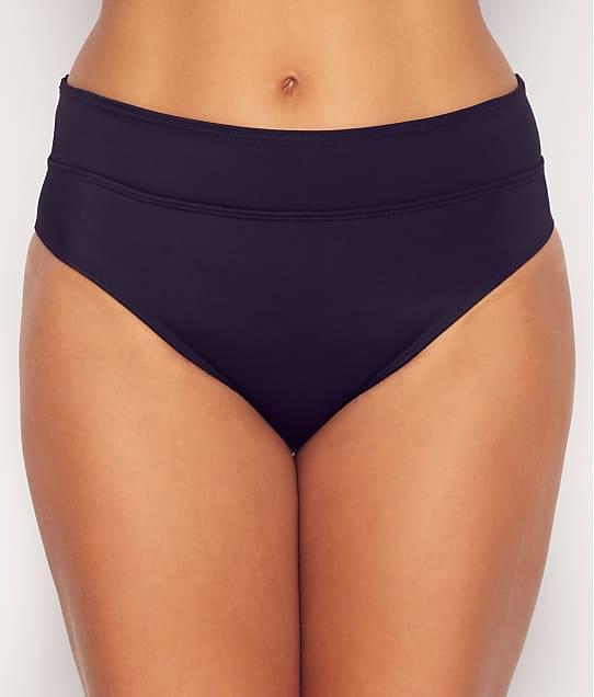 Panache Anya Riva Fold-Over Bikini Bottom in Black(Front Views) SW1307
