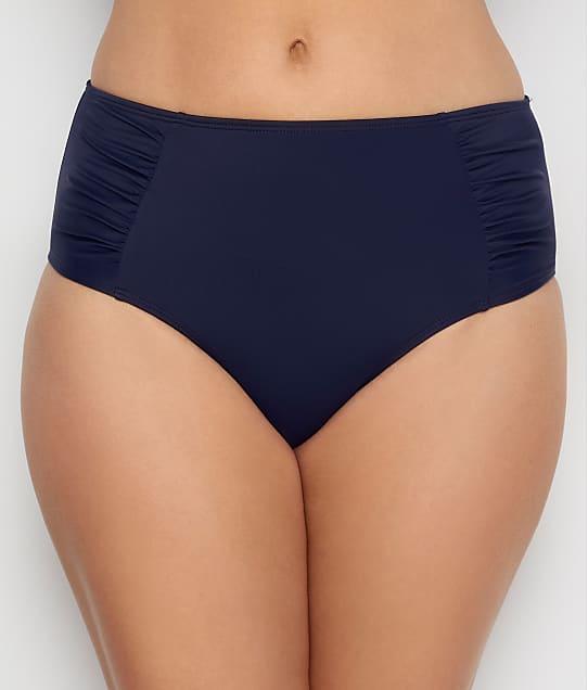 Panache Anya Riva Mid-Rise Gathered Bikini Bottom in Midnight SW1309