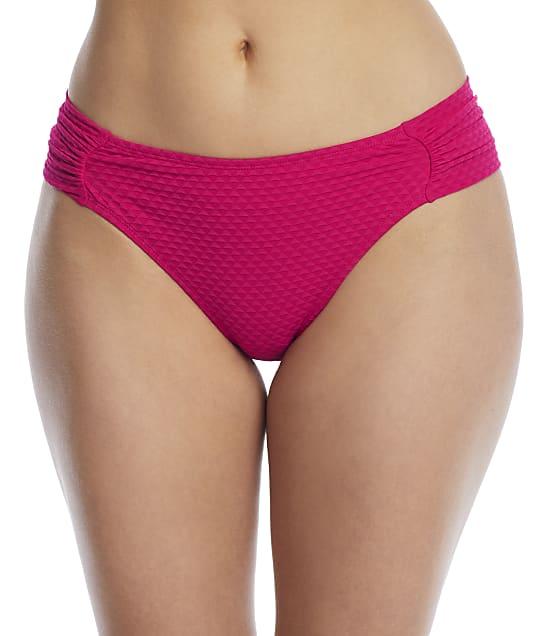 Panache Echo Gathered Bikini Bottom in Hot Pink SW1326