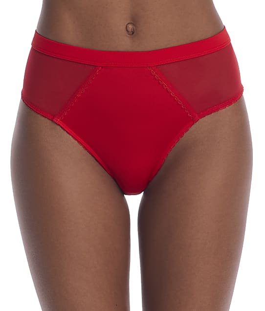 Parfait Sheer Smooth French Cut Brief in Racing Red(Front Views) PP306