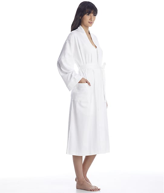 p.jamas: White Butterknit Cotton Robe
