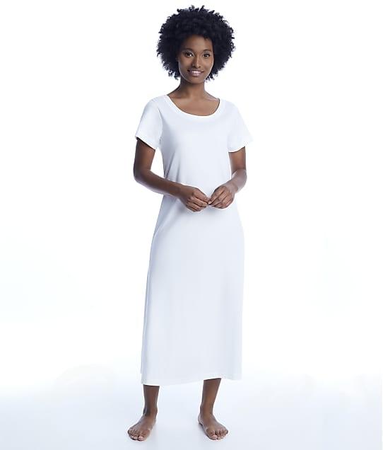 p.jamas: White Butterknit Nightgown