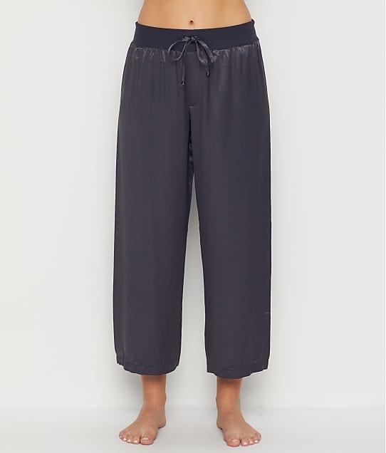 PJ Harlow: Jolie Satin Capri Lounge Pants