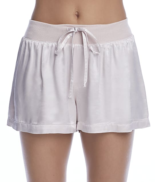 PJ Harlow Mikel Satin Sleep Boxer Shorts in Violet MIKEL