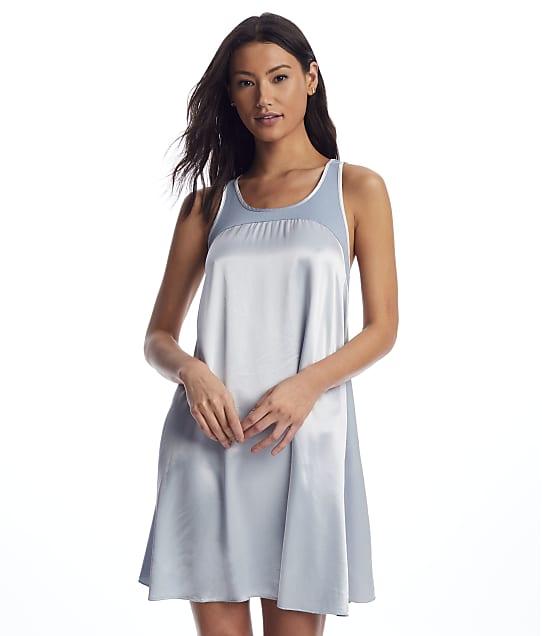 PJ Harlow Lindsay Satin Nightgown in Morning Blue PJD18