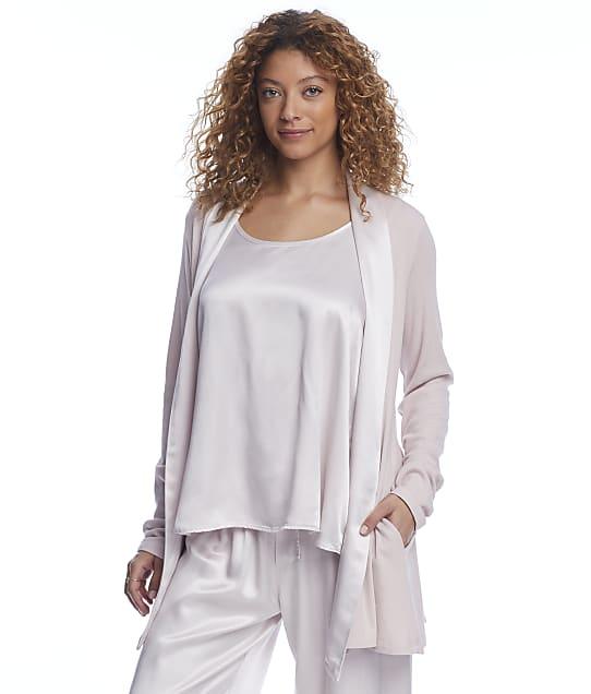 PJ Harlow Shelby Knit Lounge Cardigan Wrap in Violet PJJ01