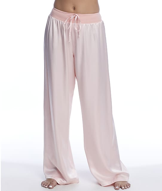PJ Harlow Jolie Satin Lounge Pants in Light Peach PJP53
