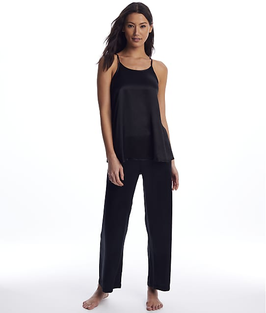 PJ Harlow Anne & Lola Woven Pajama Set in Black PW041