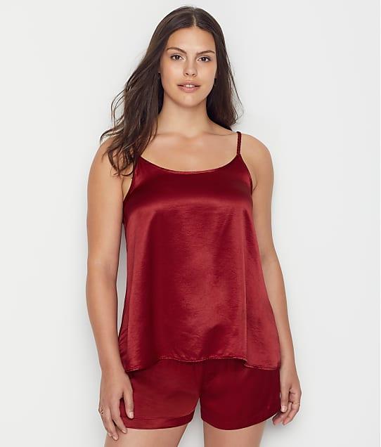 PJ Harlow Daisy & Mikel Satin Pajama Set in Red PW042