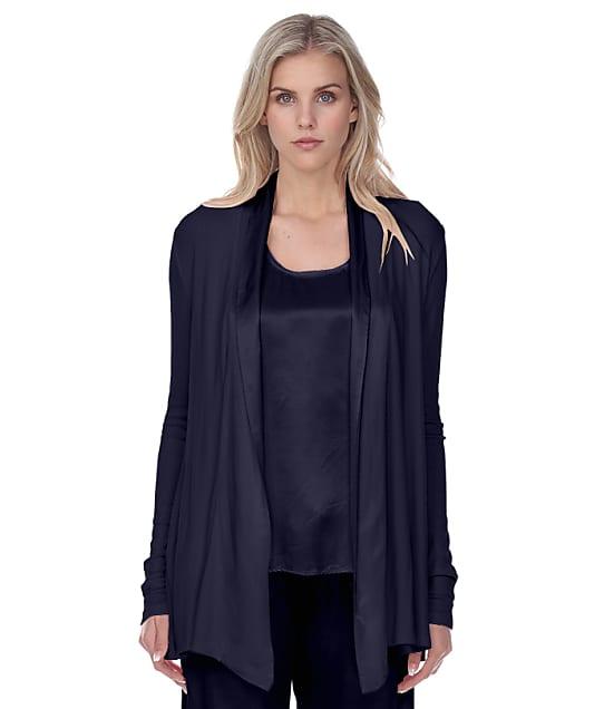 PJ Harlow Shelby Knit Lounge Cardigan Wrap in Navy PJJ01