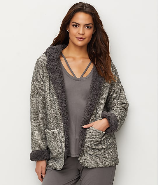 P.J. Salvage: Two-Tone Reversible Cozy Cardigan