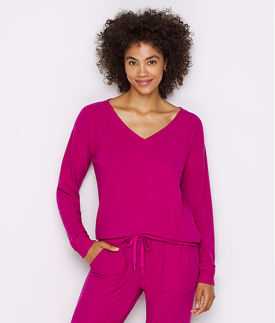 P.J. Salvage Peachy Jersey Knit Lounge Top in Magenta RPPELS