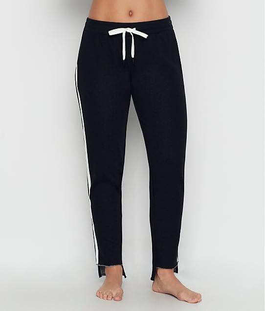 P.J. Salvage: Black Out Stripe Knit Jogger Pants