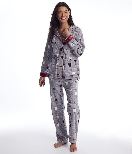 P.J. Salvage: Time To Wine Down Flannel Pajama Set