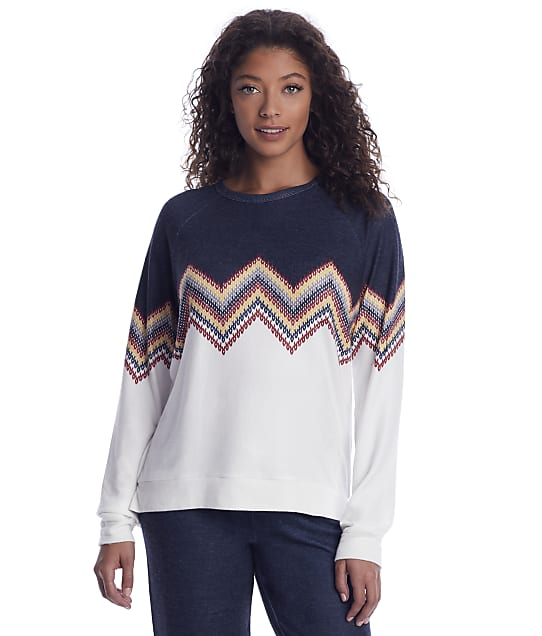 P.J. Salvage: Chevron Knit Lounge Top