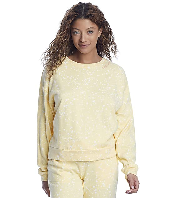 P.J. Salvage Dream On Dreamer Terry Pullover Lounge Top in Sunshine(Front Views) RXFBLS