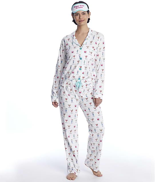 P.J. Salvage Boho Batik Modal Pajama Set in Ivory(Front Views) RXPYPJ
