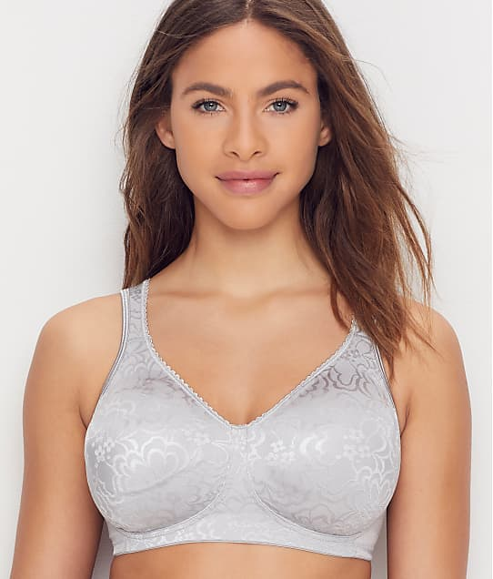 Playtex 18 Hour Ultimate Lift and Support Wire-Free Bra in Crystal Grey(Front Views) 4745