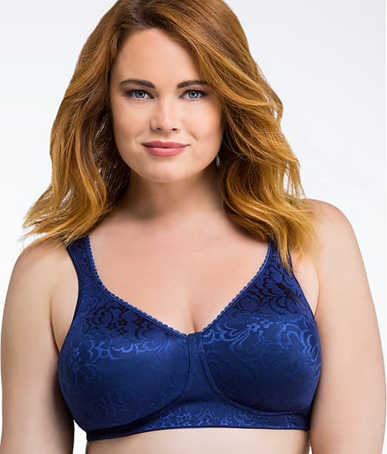 Playtex 18 Hour Ultimate Lift and Support Wire-Free Bra in Blue Velvet(Front Views) 4745