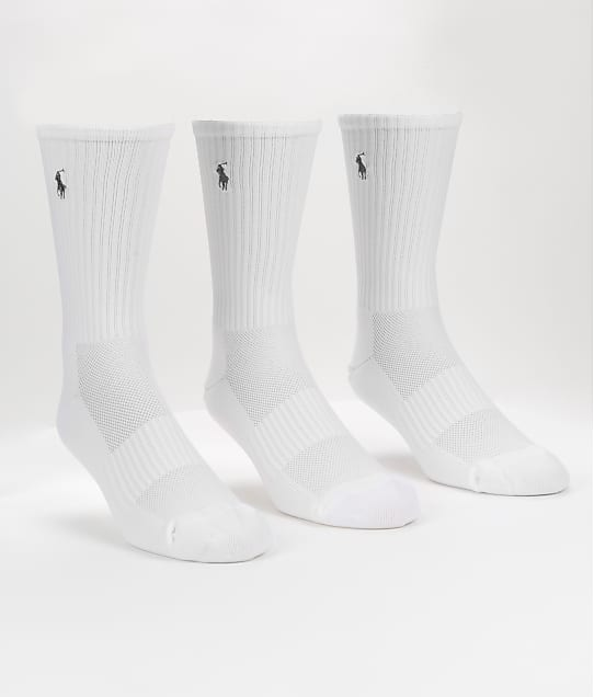 Polo Ralph Lauren: Tech Athletic Crew Socks 3-Pack