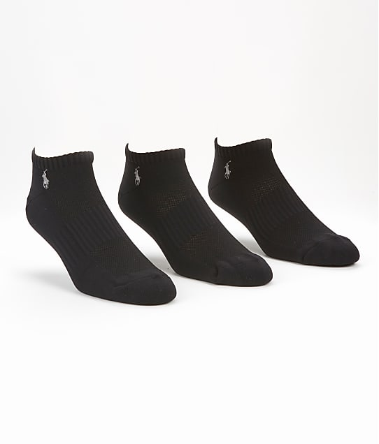 Polo Ralph Lauren Tech Athletic Low Cut 3-Pack in Black 827063PK