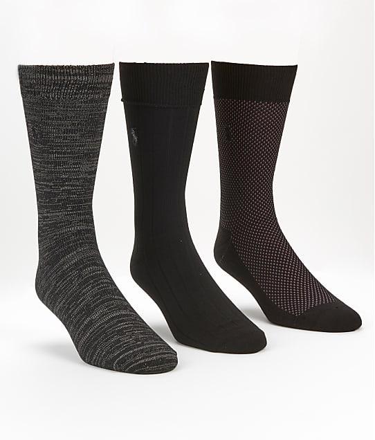 Polo Ralph Lauren Super Soft Birdseye Ribbed Socks 3-Pack in Black 8612PK