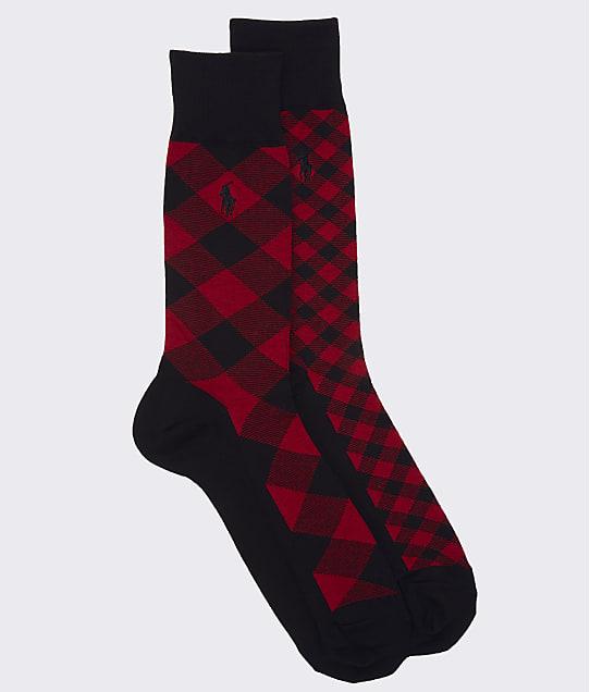 Polo Ralph Lauren: Buffalo Check Dress Socks 2-Pack