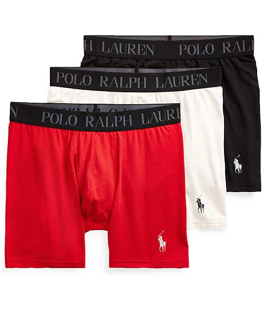 Polo Ralph Lauren 4D-Flex Stretch Cotton Boxer Brief 3-Pack in Red / White / Black LABBP3
