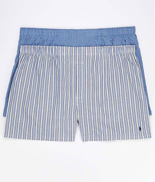 Polo Ralph Lauren: Big and Tall Woven Boxer 2-Pack