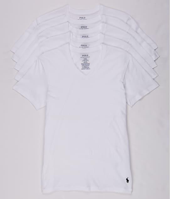 Polo Ralph Lauren: Classic Fit Cotton V-Neck T-Shirt 5-Pack