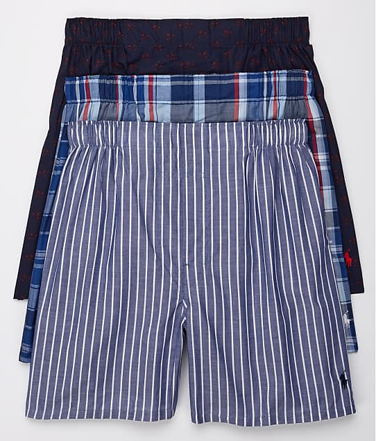 52d542a7a933 Polo Ralph Lauren Classic Fit Woven Boxers 3-Pack | Bare Necessities ...