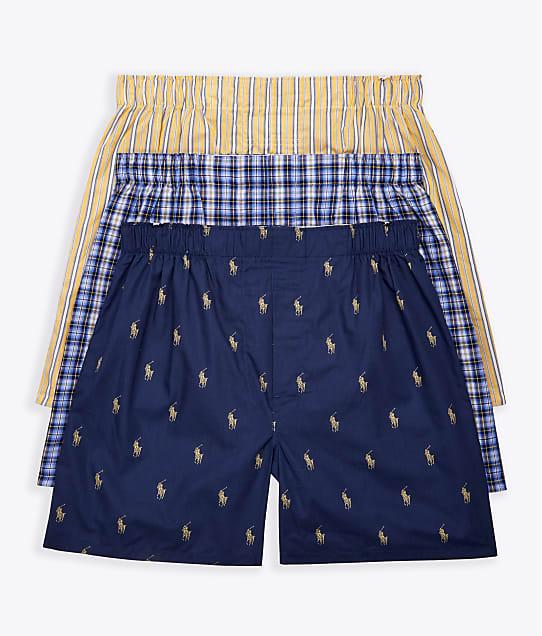 Polo Ralph Lauren: Classic Fit Woven Cotton Boxers 3-Pack