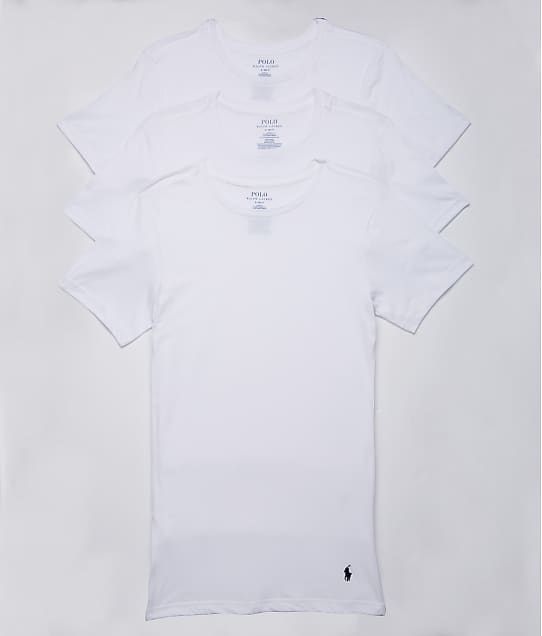 Polo Ralph Lauren Slim Fit Cotton T-Shirt 3-Pack in White RSCNP3