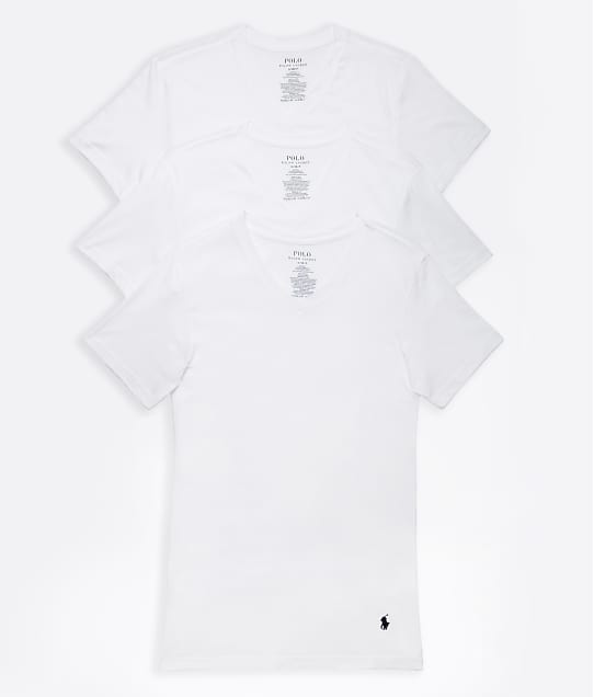 Polo Ralph Lauren: Slim Fit Cotton V-Neck T-Shirt 3-Pack