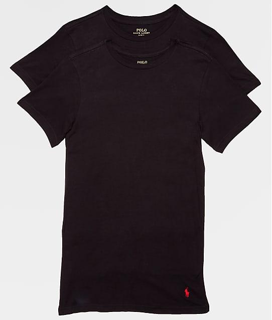 Polo Ralph Lauren Big & Tall Crew Neck T-shirt 2-Pack in Black RXCNP2